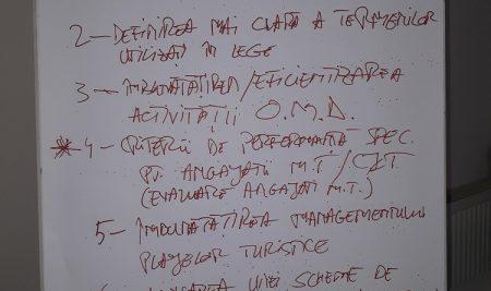 Training TestIMM Regiunea Centru – Legea turismului